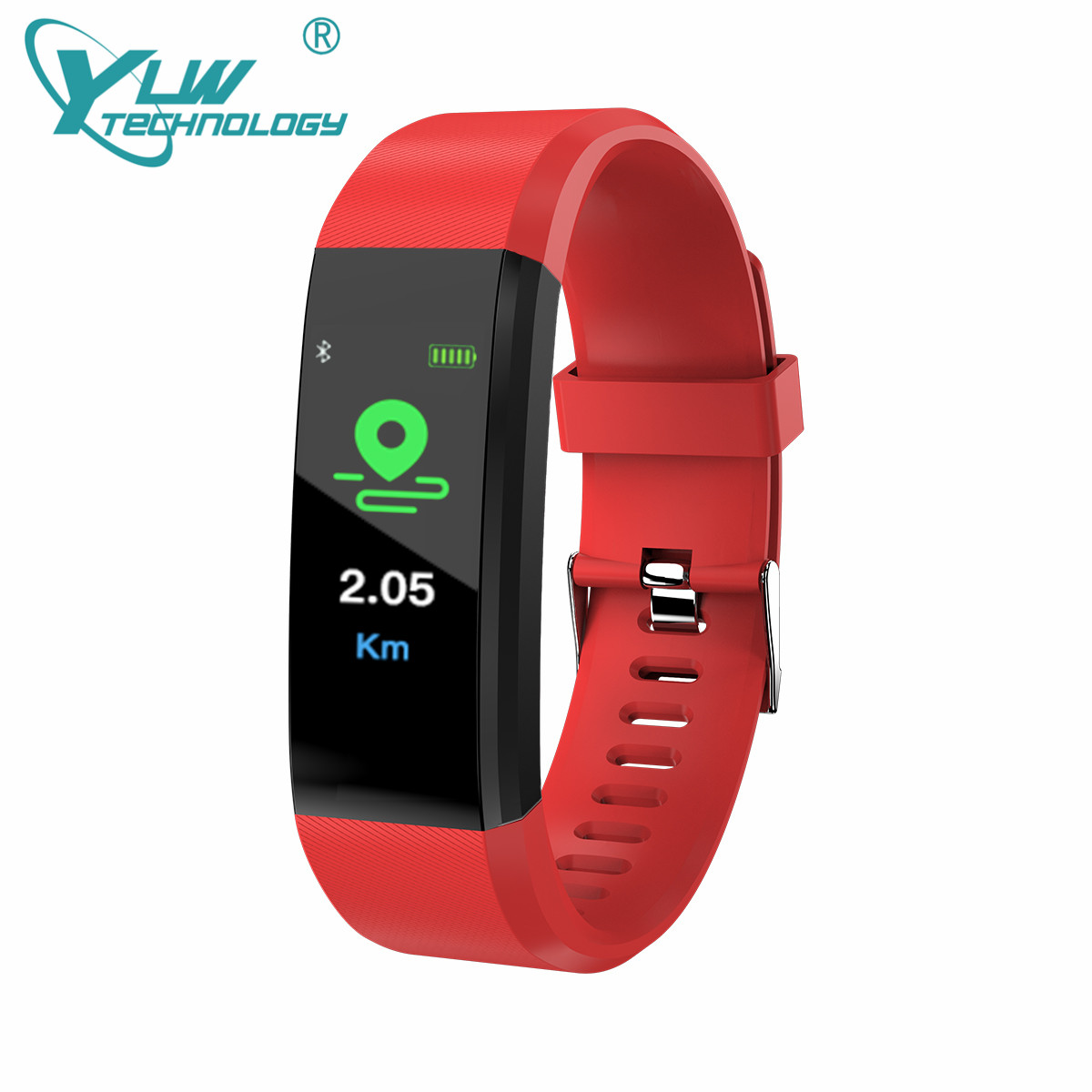 YLW CY115 Color Screen New Smart Bracelet with Blood Pressure Heart Rate Monitor Waterproof IP67