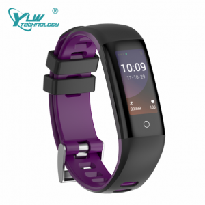 YLW BL19 Color Screen Smart Bracelet wtih Blood pressure Heart Rate Monitor Waterproof IP67