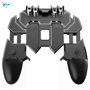 YLW CJ-7 New Six-Finger Handle Eat Chicken Artifact, Mobile Game Controller, Six-Finger Assist